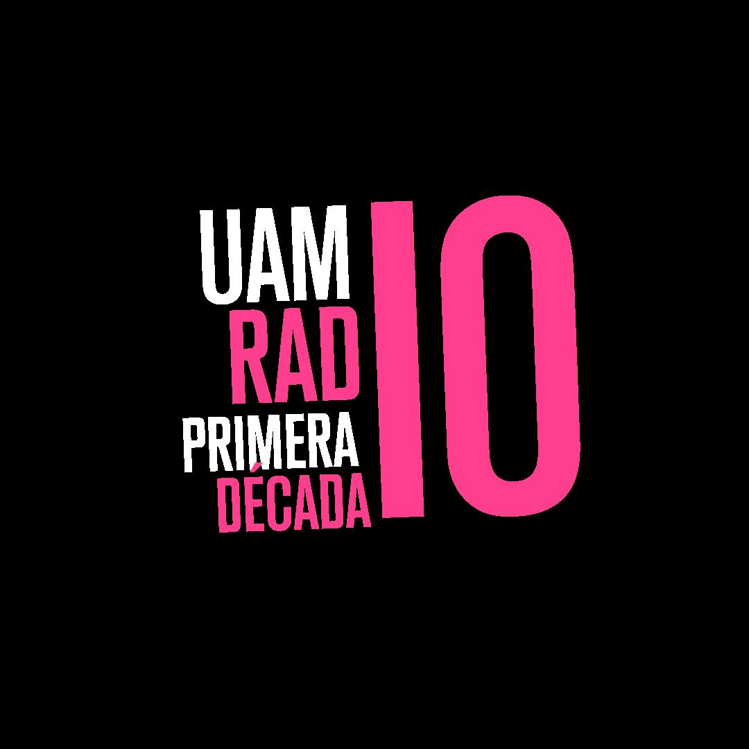 UAM RADIO 94.1 FM. logo. 10 aniversario